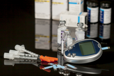 Diabetic supplies including syringes